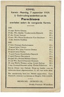 Kemmel September 1958 Augustus 1959 Gedachtenis Overleden Parochianen - Obituary Notices