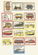 Germany DDR 16 Matchbox Labels Transport - Boites D'allumettes - Etiquettes