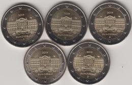 """Moneda 2€ 2019 Alemania """"Bundesrat"""" 5 Cecas - Alemania"""