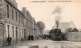 PERROS GUIREC (22) N°8 Le Départ Du Train à Pont Caounec - Perros-Guirec