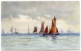 ARTIST : CLAUDIA BRINDLEY - SCARBOROUGH, FISHING BOATS - Illustrators & Photographers