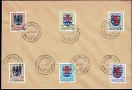 1956: FDC Série Caritas 6 Timbres, Michel 2019: 561-566  Valeur Catalogue: 24€ - FDC