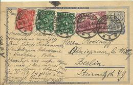 28.12.1922  Frühinfla  15 M Postkarte Von Wiesbaden Nach Berlin   Richtiges Porto - Allemagne