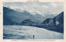 73. AIGUEBELLE. CPA. L'ARC. CHARBONNIERE ET MONTAGNE DE LA LAUZIERE. TEXTE CHASSEUR ALPIN. ANNEE 1932 - Aiguebelle