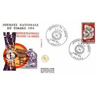 FDC JF - Journée Du Timbre - 9/3/1974 Angers - FDC