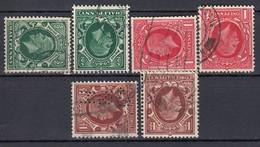 GB 1934 - MiNr: 175 - 177 Wz: Y + Z   Used - 1902-1951 (Könige)