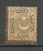 Turkey; 1868 Duloz Postage Due Stamp 5 K. Border&Overprint In Brown - 1858-1921 Empire Ottoman