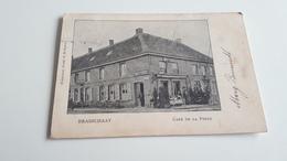 *BRASSCHAAT  Café De La Poste Animée  Oblitéré En 1900 - Brasschaat