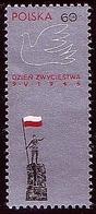 Poland 1966 Mi 1673 WWII Victory Day, Peace Dove, Flag. MHN** W1076 - 1944-.... République
