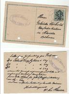 1919 C  BISCHOFTEINITZ APOTHEKE Postal Stationery Card Austria Czech Pharmacy Health Medicine Horsovsky Tyn - Pharmacy