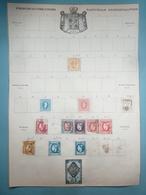 2 Pages D'album De Timbres Anciens De ROUMANIE - 1858-1880 Moldavie & Principauté