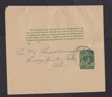 Bermuda: Stationery Wrapper To USA, King George VI (traces Of Use) - Bermuda