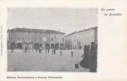 Emilia Romagna Reggio Emilia Brescello  Piazza E Chiesa Parrocchiale -- Bella Aminata - Autres Villes