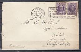 Brief Van Liege 1 Luik Naar Congo Belge Isehela Mayumbe - 1922-1927 Houyoux