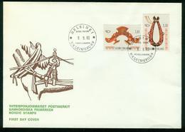 FD Finnland FDC 1980 | MiNr 871-872 | NORDEN, Handwerkskunst, Sielengeschirr, Kummetgeschirr - Finlande