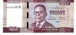 Liberia P.33 20 Dollars 2016 Unc - Liberia