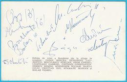 ROMANIA VOLLEYBALL TEAM On Olympic Games 1972. ** ORIGINAL AUTOGRAPHS - HAND SIGNED ** Autograph Autographe Autogramm - Autographes