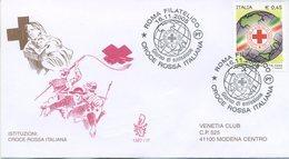 ITALIA - FDC  VENETIA  2005 - CROCE ROSSA ITALIANA - VIAGGIATA - ANNULLO SPECIALE - 1946-.. République