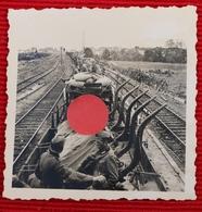 Photo Originale De Trains Allemand Dans La Gare De Rennes Bretagne 1940 - 1939-45