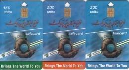 SUDAN - Calendar 2002, Set Of 3 Sudatel Telecards 150-200-300 Units, Chip Siemens 35, Sample(no CN) - Soudan