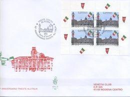 ITALIA - FDC  VENETIA  2004 - TRIESTE ALL' ITALIA - LIBRETTO - VIAGGIATA - ANNULLO SPECIALE - 1946-.. République