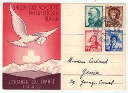 Suisse /Schweiz/Svizzera/Switzerland // Journée Du Timbre // 1940 // St.Gallen (carte Française) - Journée Du Timbre