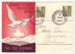 Suisse /Schweiz/Svizzera/Switzerland // Journée Du Timbre // 1940 // St.Gallen (carte Allemande) - Journée Du Timbre
