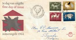 Nederland. FDC. 1964. Thème: Animaux, Cerf - FDC