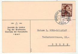 Suisse /Schweiz/Svizzera/Switzerland // Journée Du Timbre // 1941 // Zurich (carte) - Journée Du Timbre