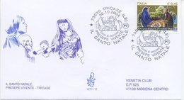 ITALIA - FDC  VENETIA  2004 - NATALE - PRESEPE - VIAGGIATA - ANNULLO SPECIALE - 1946-.. République