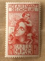 Timbre France YT 428 (*) 1939, Au Profit De L'œuvre Des Enfants Des Chômeurs 90c+35c Rouge Brique (côte 2,75) - 85 - France