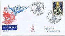 ITALIA - FDC  VENETIA  2004 - NATALE - ALBERO - VIAGGIATA - ANNULLO SPECIALE - 1946-.. République