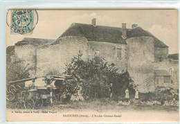 Lot CPA 02 Aisne Bazoches L'Ancien Chateau Féodal + Fossé Et Mur D'enceinte - France