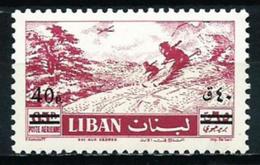 MNH Stamp Ski Surcharged Lebanon Liban 1959 - Liban