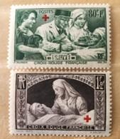 Timbre France YT 459-460 (*) MH 1940 Au Profit Des Blessés (côte 12,5 Euros) – 88 - France