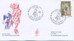 ITALIA - FDC  VENETIA  2004 - SANTA LUCIA - ARTE - VIAGGIATA - ANNULLO SPECIALE - 1946-.. République