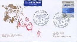 ITALIA - FDC  VENETIA  2004 - LO SPORT PER TUTTI - VIAGGIATA - ANNULLO SPECIALE - 1946-.. République