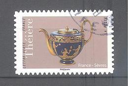 France Autoadhésif Oblitéré (Théières - France Sèvres) (cachet Rond) - France