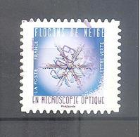 France Autoadhésif Oblitéré (Flocons De Neige N°11) (cachet Rond) - France