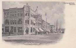 Lewiston Idaho, Main Street Scene, Old Architecture, C1900s Vintage Postcard - Lewiston