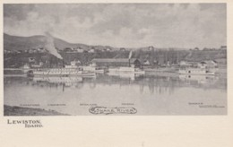 Lewiston Idaho, Riverfront Scene, Steamer Riverboats Identified, C1900s Vintage Postcard - Lewiston