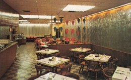 Emporia Kansas, Forren's Restaurant Interior View , C1960s Vintage Postcard, RPO Railroad Postmark - United States
