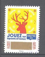 """France Autoadhésif Oblitéré (2018 """"envoyez Plus Que Des Voeux"""" N°6) (cachet Rond) - France"""