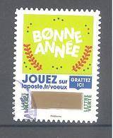 """France Autoadhésif Oblitéré (2018 """"envoyez Plus Que Des Voeux"""" N°9) (cachet Rond) - France"""