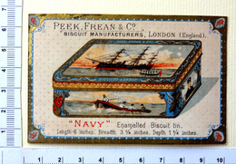 """CHROMO  PEEK,FREAN AND Cie...LONDON...BOITE DE BISCUITS """" NAVY"""" - Confiserie & Biscuits"""