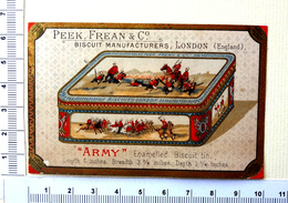 """CHROMO  PEEK,FREAN AND Cie...LONDON...BOITE DE BISCUITS """" ARMY"""" - Confiserie & Biscuits"""