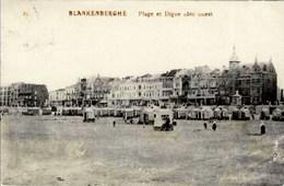 BLANKENBERGE - Plage Et Digue Côté Ouest - Oblitération De 1912 - Blankenberge