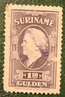 READ Koningin Wilhelmina 1,50 Gld NVPH 240 1945 Used / Gestempeld SURINAME / SURINAM - Suriname ... - 1975