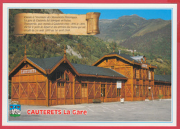 CPM-65-CAUTERETS - La GARE** 2 SCANS - Cauterets