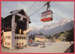 CPM-74- LES HOUCHES - Gare De Départ Du Téléphérique -Animation - 2CV Citroën * 2 SCANS - Les Houches